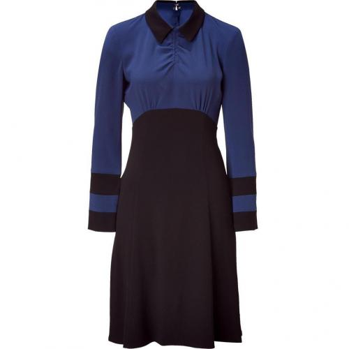 Marc by Marc Jacobs Medieval Blue Color Block Anya Crepe Dress