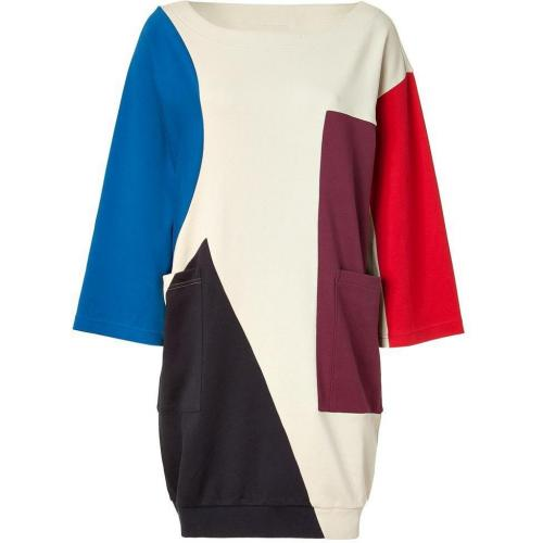 Marc by Marc Jacobs Oatmeal Multicolor Constructivist Block Dress