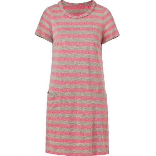 Marc by Marc Jacobs Pink/Creme Striped Pebble Dress