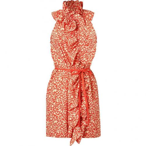 Marc by Marc Jacobs Red Belted Floral Dress