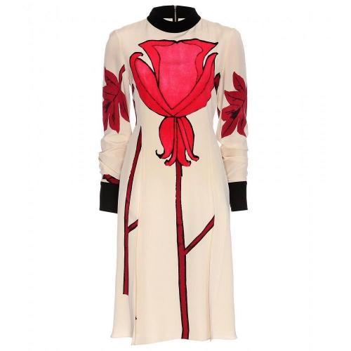 Marni Print-Kleid Beige Rot