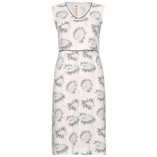 Marni Print-Kleid White
