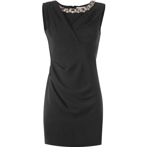 Matthew Williamson Black Draped Shift Dress