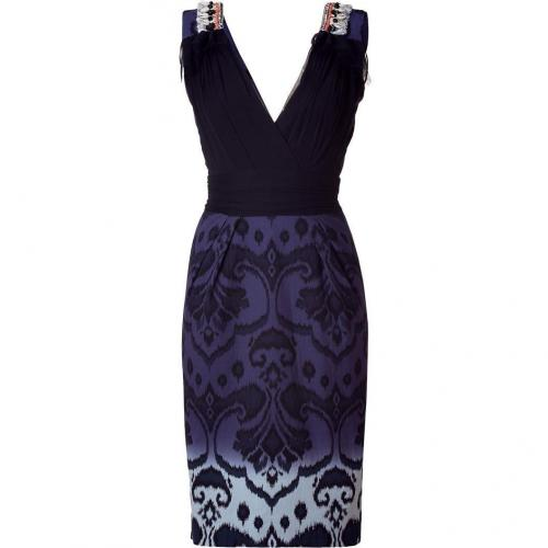 Matthew Williamson Black Embellished Sheath Dress