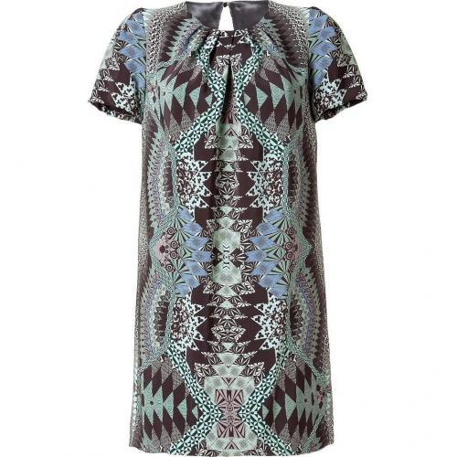Matthew Williamson Jade/Black Printed Silk Dress