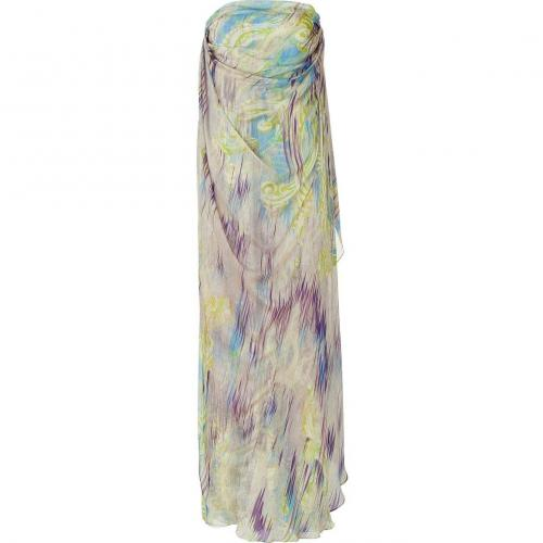 Matthew Williamson Mauve/Peridot Printed Silk Gown
