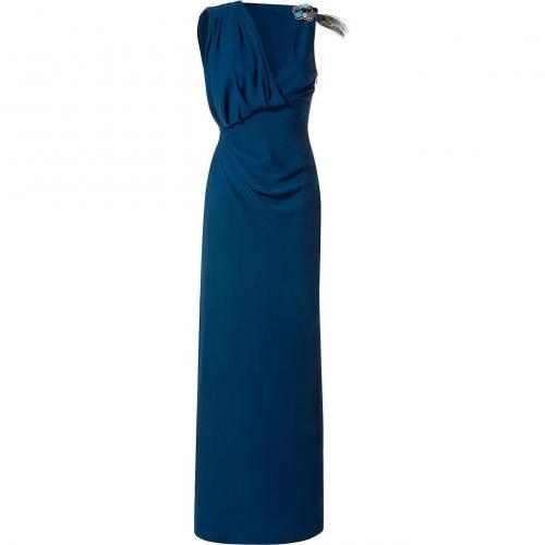 Matthew Williamson Sapphire Asymmetric Drape Gown