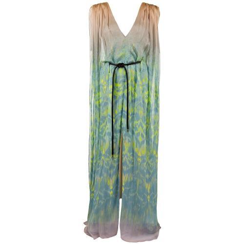 Matthew Williamson Seidenkleid Beige-Aqua