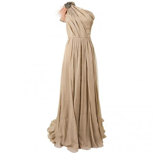 Matthew Williamson Seidenkleid taupe