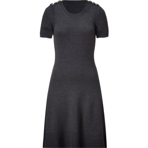 McQ Alexander McQueen Grey Heather Virgin Wool Knit Dress