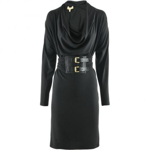 Michael Kors Black Two Buckle Belted Dress