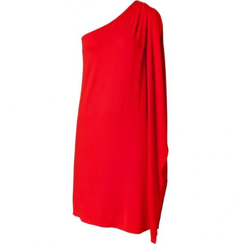 Michael Kors Coral One Shoulder Flutter Sleeve Dress