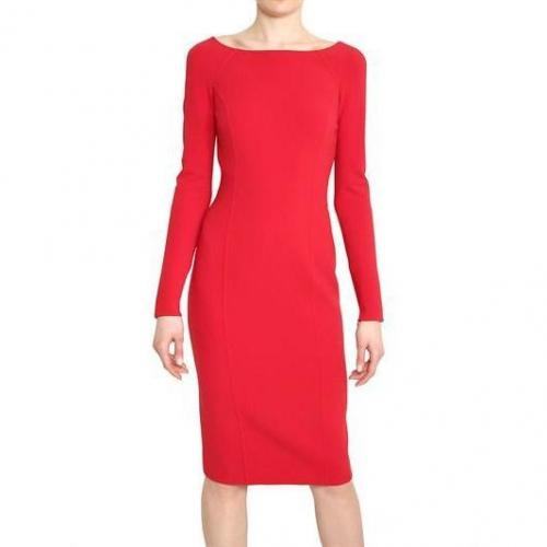 Michael Kors Doppelseitiges Stretch Woll Crepe Kleid