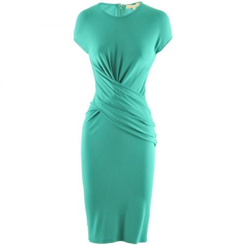 Michael Kors Green Asymmetric Dress Ruffle