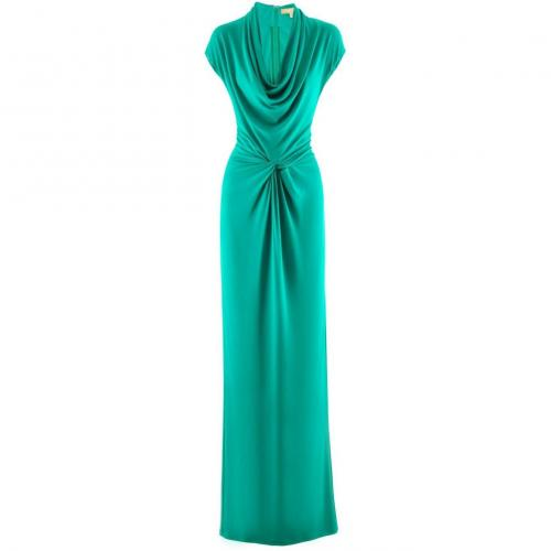 Michael Kors Green Long Dress Knot