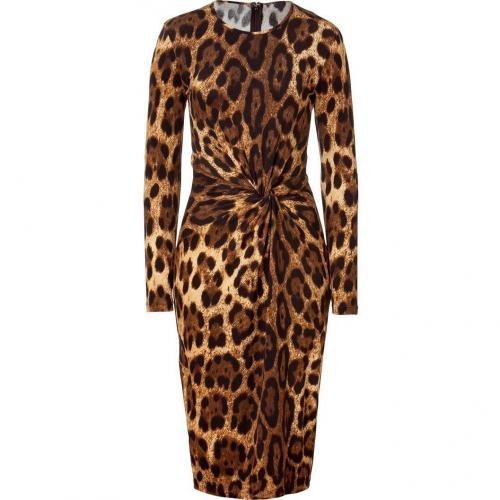 Michael Kors Leopard Knot Front Dress