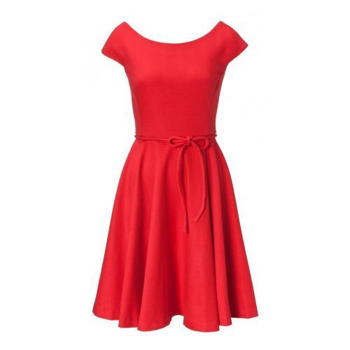 Milly Sophia Circle Skirt Dress Rot