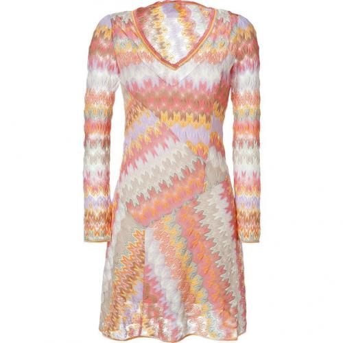Missoni Lychee Multicolor V-Neck Dress