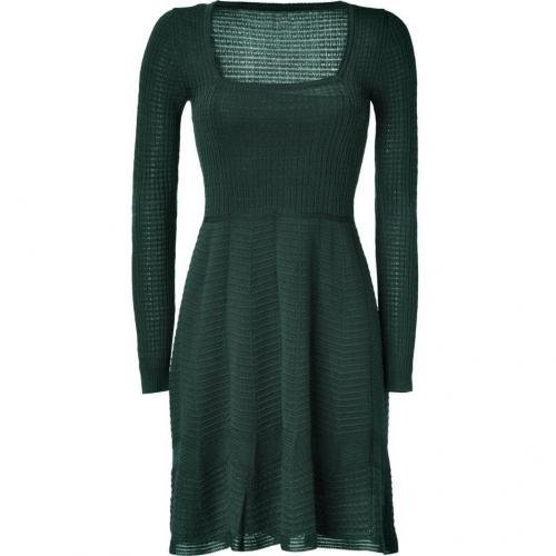 Missoni M Emerald Green Square Neck Knit-Dress