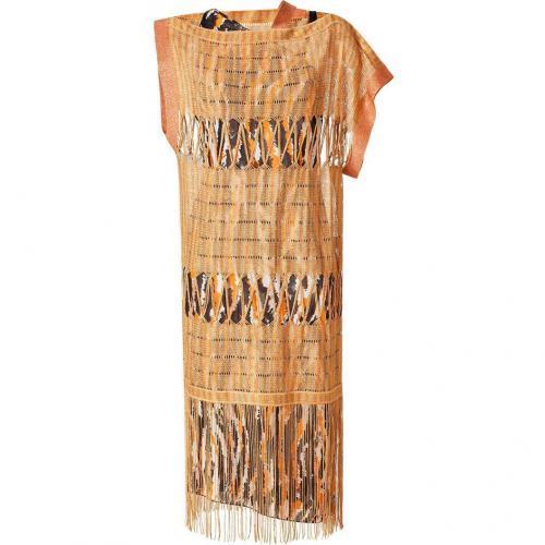 Missoni Mandarin Lurex Fringed Dress