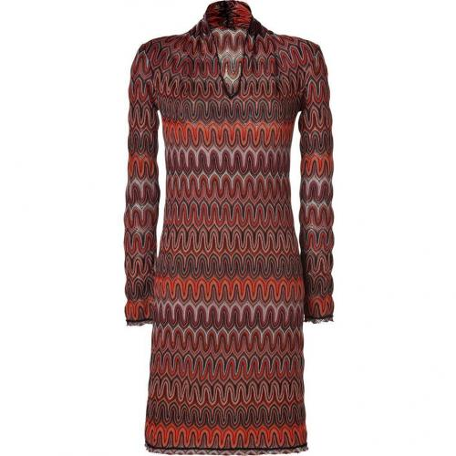Missoni Saffron/Stone Wool-Blend Variegated Knit Dress