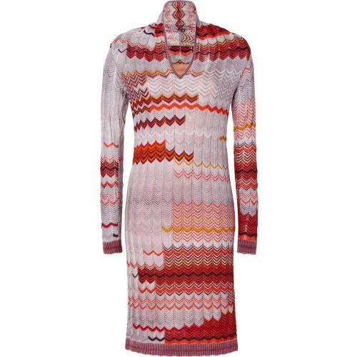 Missoni Saffron/Taupe Wool-Blend Variegated Knit Dress