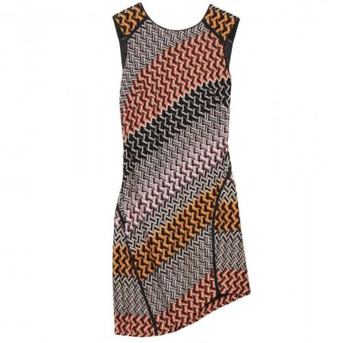 Missoni Strickkleid Braungrau
