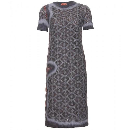 Missoni Strickkleid Grau