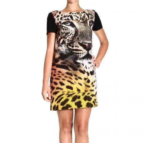 Moschino Short sleeve tiger print dress