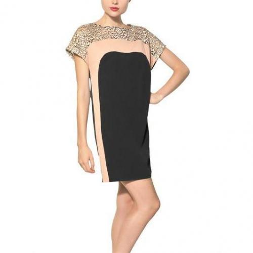 MSGM Kleid Mit Viskosespitze Auf Viskose Crepe