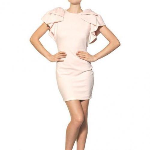 MSGM Punto Milano Viskose Kleid Mit Rüschen