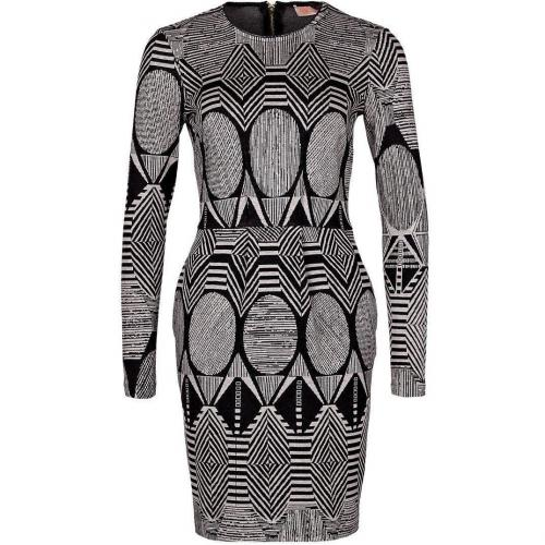 Mw Matthew Williamson Strickkleid black/white