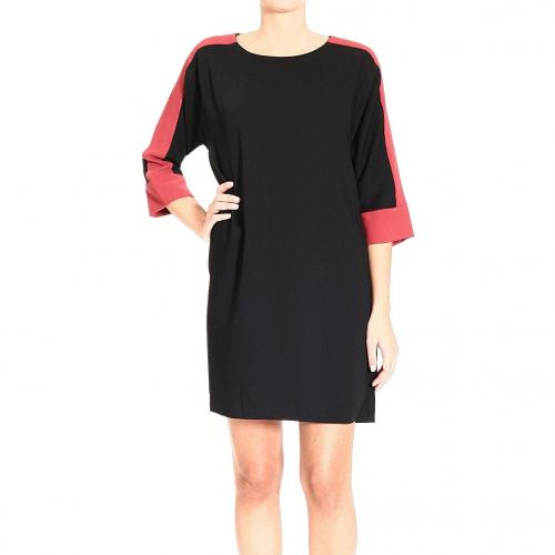 Orion London Long sleeve bicolor dress with round-neck