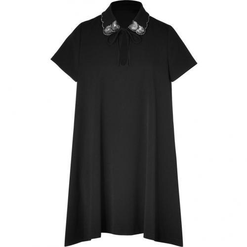 Paul & Joe Black Embellished Demure Cristoba Dress