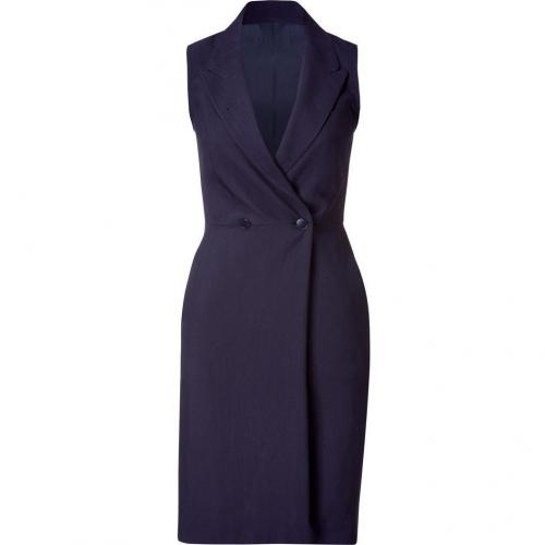 Paul Smith Navy Sleeveless Wool Blend Dress