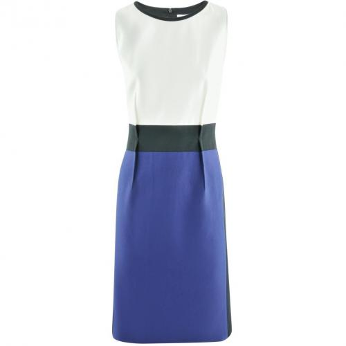 Paule Ka White Purple Black Dress