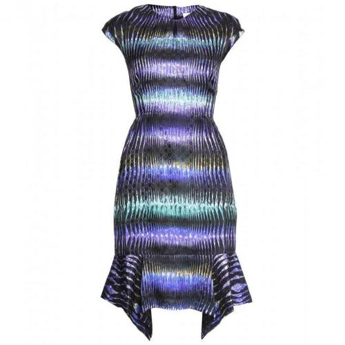 Peter Pilotto Jacquard-Kleid Mit Digital-Print