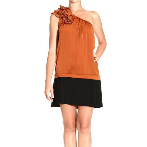 Pinko Dress Orange Black