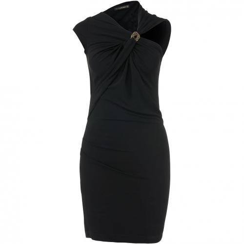 Plein Sud asymmetrisches Kleid Schwarz