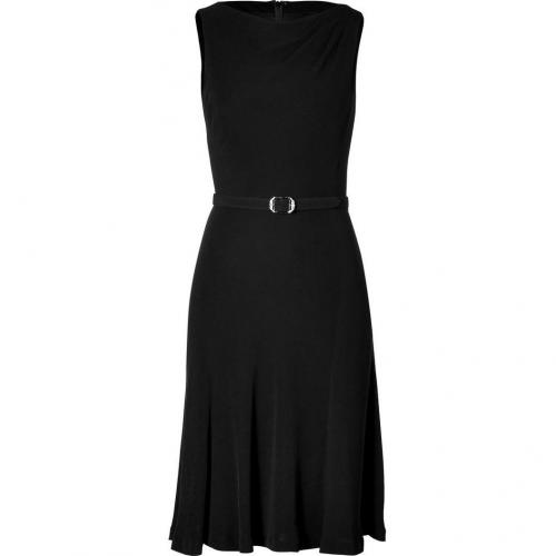 Ralph Lauren Black Black Stretch Belted Robyn Dress