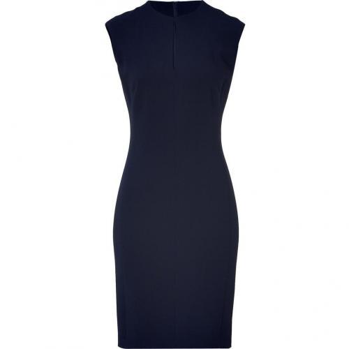 Ralph Lauren Black Navy Double Face Wool Denita Dress