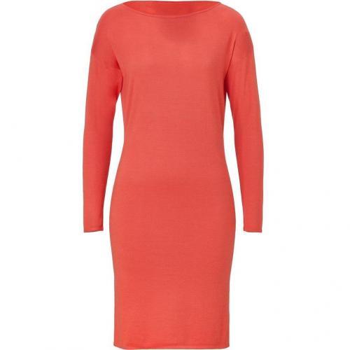 Ralph Lauren Black Sorbet Orange Cashmere-Silk Knit Dress
