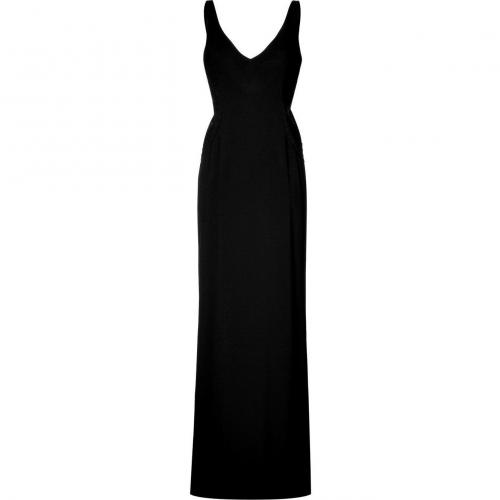 Ralph Lauren Collection Black V-Neck Gown