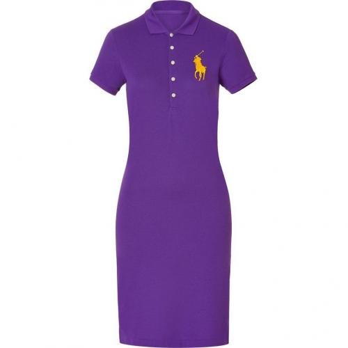 Ralph Lauren Deep Purple Stretch Mesh English Dress