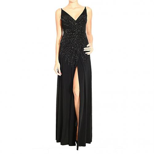 Roberto Cavalli Jersey braces sequin emboridery dress