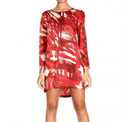 Roberto Cavalli Long sleeve satin stars print dress