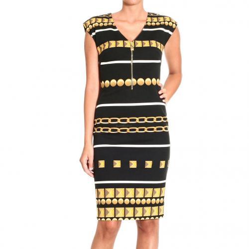 Roberto Cavalli Sleeveless milan stitch print dress