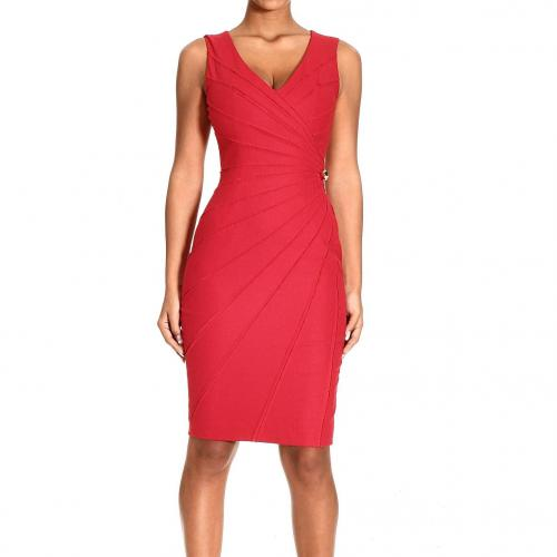 Roberto Cavalli Sleeveless wool cuts dress