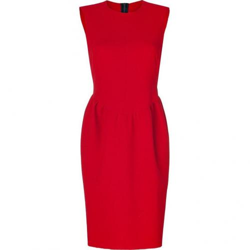 Roksanda Ilincic Ruby Red Double Wool-Crepe Pemberton Dress