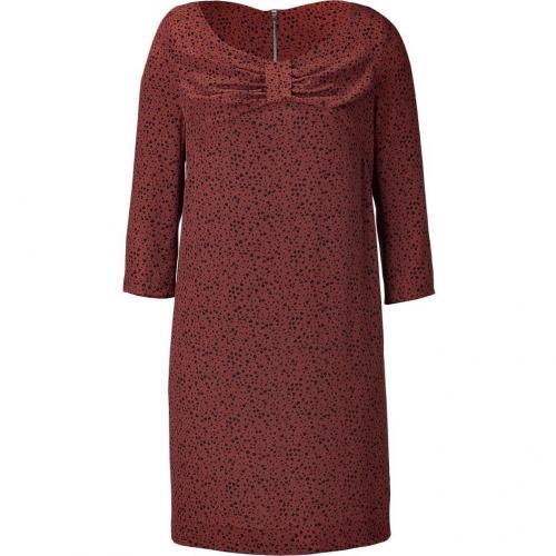 Sandro Brown Floral Print Dress